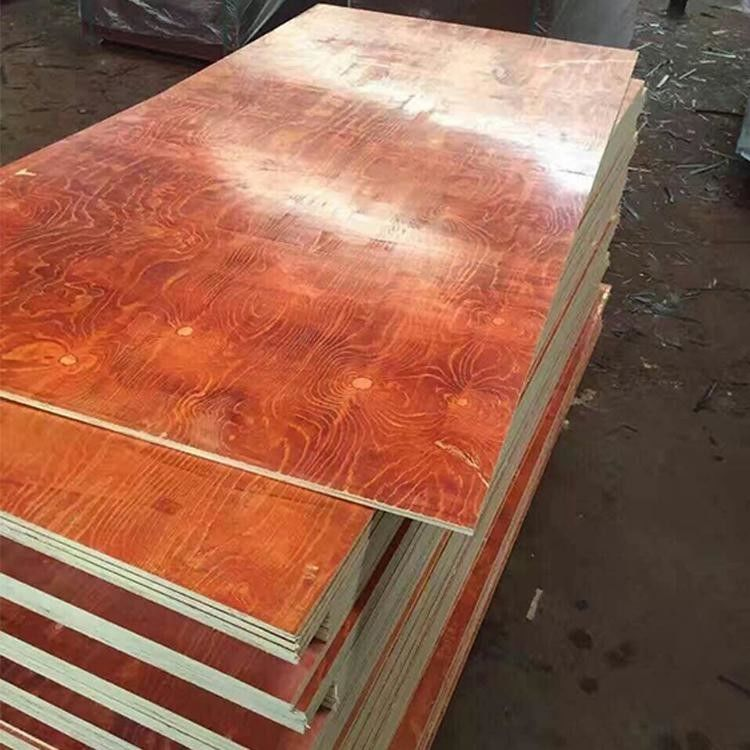 Waterproof Red Film Faced Plywood , Melamine Laminated Plywood 2 Time Hot Press