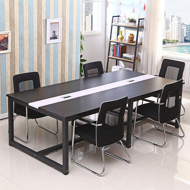 High glossy industrial modern office design melamine particle board office desk